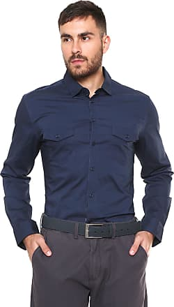 686f8ee43 Colcci Camisa Colcci Slim Fit Básica Azul-Marinho
