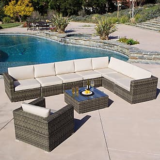 BEST SELLING HOME Outdoor Olivia 9 Piece Patio Conversation Set - 237865