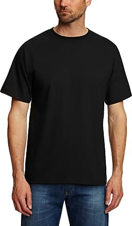 Hanes Mens USA Beefy-T T-Shirt, Black, XX-Large