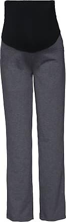 Happy Mama Womens Maternity Pants. Available in 3 Leg Lengths. 691p (Medium Length Graphite Melange, UK 16/18, 2XL)