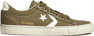 Converse 160983C Pro Leather Distressed Sneakers Men Olive 40