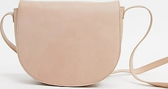 Urban Code real leather saddle cross body bag-Beige