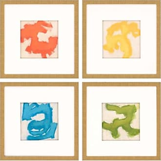 Paragon Picture Gallery Gestural I Framed Wall Art - Set of 4