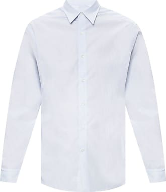 Lanvin Patterned Shirt Mens Light Blue