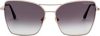 Tom Ford Eyewear Óculos de Sol Gatinho Dourado - Mulher - 61 US