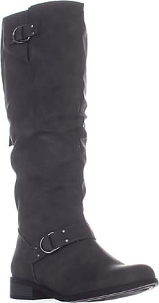 xoxo Womens Minkler Round Toe Knee High Fashion Boots, Grey, Size 9.5 US / 7.5 UK US