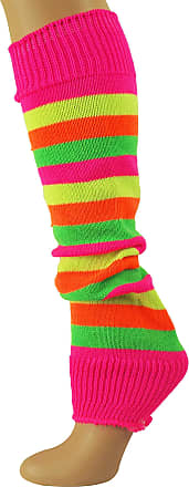 MySocks Leg Warmers Stripe Neon Pink Yellow Orange Green