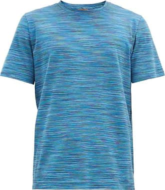 Missoni Space-dyed Striped Cotton-jersey T-shirt - Mens - Navy Multi