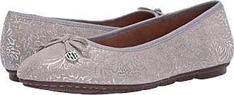 Hush Puppies Abby Bow Ballet (Silver Metallic) Womens Flat Shoes