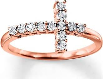 Kay Jewelers Diamond Cross Ring 10K Rose Gold
