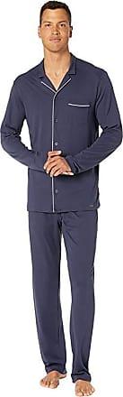 Hanro Men/'s Night /& Day Jersey Long-Sleeve Pyjama Set Blue Floral Navy