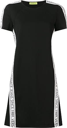 586d87d6610 Versace Jeans Couture logo stripe T-shirt dress - Black