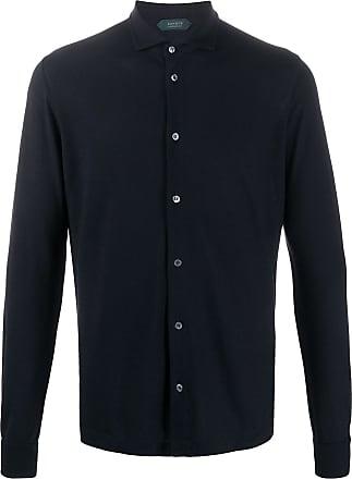 Zanone Camisa de algodão - Azul