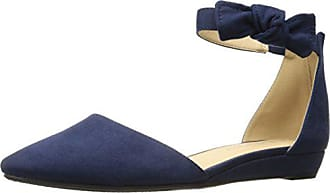 Chinese Laundry Womens Sonje Pointed Toe Flat, Navy Super Suede, 5.5 M US