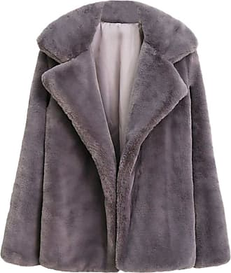 FNKDOR LEXUPE Women Autumn Winter Warm Comfortable Coat Casual Fashion Jacket Thick Coat Solid Overcoat Outercoat Jacket Cardigan Coat Gray