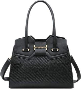 Girly HandBags Girly HandBags Womens Textured Rigid Shoulder Bag - Black