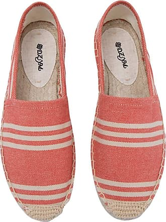 ICEGREY Womens Causal Loafer Flat Slip On Espadrille Red Strips UK 3.5