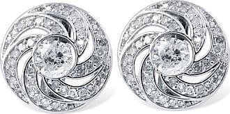 Pompeii3 3/4CT Diamond Studs & Floral Earring Jackets 14K White Gold