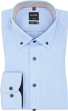 Olymp Übergröße : Olymp, Level five body fit Businesshemd mit Button-Down-Kragen, extralang in Hellblau