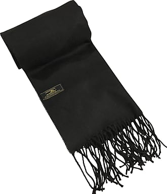 CJ Apparel Black Mens Solid Colour Design Fashion Knitted Scarf Fall/Winter CJ Apparel NEW(Size: One Size)