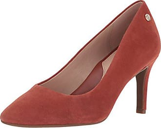 Taryn Rose Womens Tamara Silky Suede Pump, Terracotta, 9.5 M M US