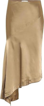 Helmut Lang High-rise satin midi skirt