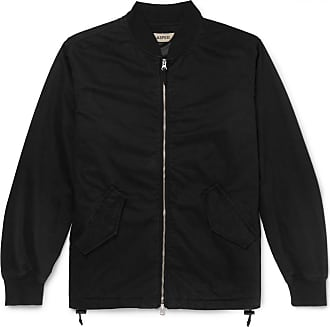 Aspesi Cotton-twill Bomber Jacket - Black