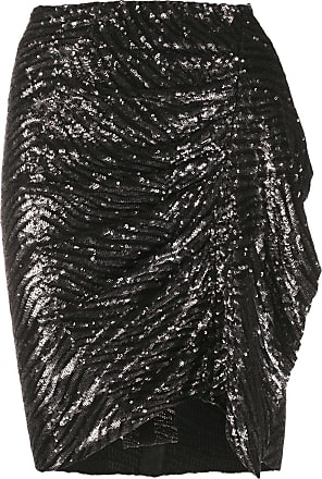 Iro gathered side sequin skirt - Black