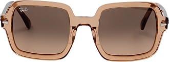 Ray-Ban Óculos de Sol Quadrado Marrom - Mulher - 53 US