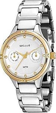 Seculus Relógio Feminino Seculus Analógico - 20375LPSVBQ1 - Prata/Dourado