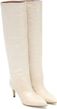 PARIS TEXAS Exclusive to Mytheresa - Croc-effect leather knee-high boots
