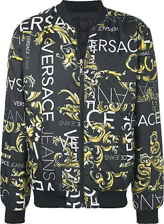 632868c86012 Versace Jeans Couture logo print bomber jacket - Black