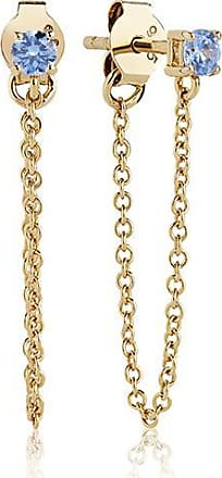 Sif Jakobs Jewellery Earrings Princess Piccolo Lungo - 18k gold plated with blue zirconia
