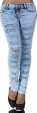 H526 Damen Jeans Hose Hüfthose Damenjeans Hüftjeans Röhrenjeans Röhrenhose Röhre