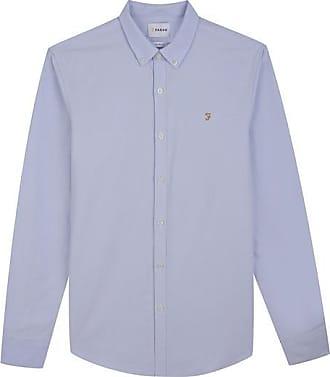 Farah Brewer Slim Fit Oxford Shirt Himmelblau - XX-Large