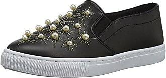 Qupid Womens MOIRA-08A Sneaker, Black, 6.5 M US