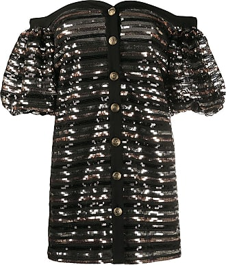 Philosophy di Lorenzo Serafini off the shoulder sequin embellished dress - Black