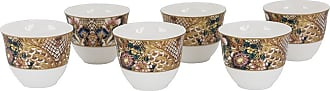 Roberto Cavalli Golden Flowers Arabic Cups - Luxury Box Set of 6
