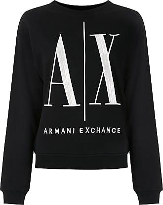 A|X Armani Exchange Moletom Icon com gola redonda - Preto