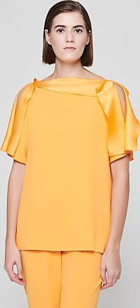 Escada Crepe Satin Volant Top