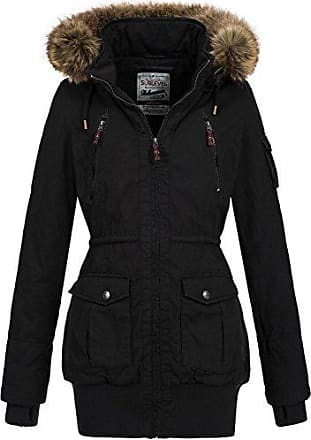 e617503def91e0 Sublevel Damen Mantel Wintermantel Winterparka 44276A Schwarz Gr. S