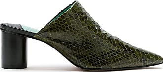 Blue Bird Shoes Mule Mamounia de couro - Verde