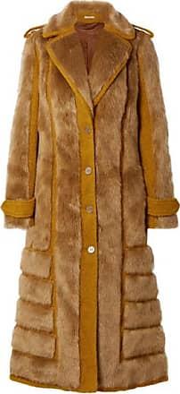 Acne Studios Faux Fur-trimmed Bouclé Coat - Saffron