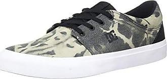 DC Mens Trase TX SE Skate Shoe, Black Destroy Wash, 4 D US