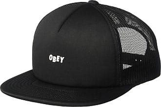 Obey Mens Jumble BAR Trucker HAT Baseball Cap, Black, One Size