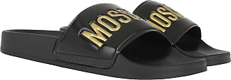Moschino Loafers & Slippers - Logo Pool Slides Black/Gold - black - Loafers & Slippers for ladies