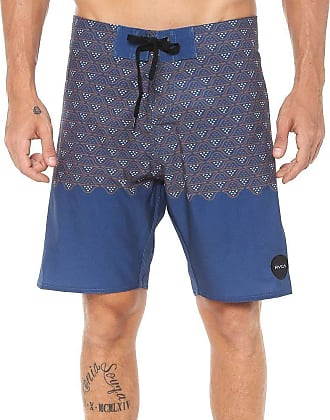 Rvca Bermuda Rvca Boardshort Dutch Trunk Azul