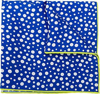 Kiton Lenço com estampa de poás - Azul