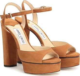 Jimmy Choo London Peachy 125 suede plateau sandals