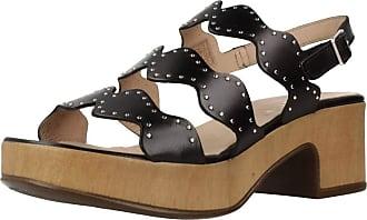 Wonders Women Sandals and Slippers Women D8805P Black 5 UK